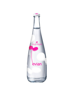 AGUA EVIAN 2012 COURREGES 75CL