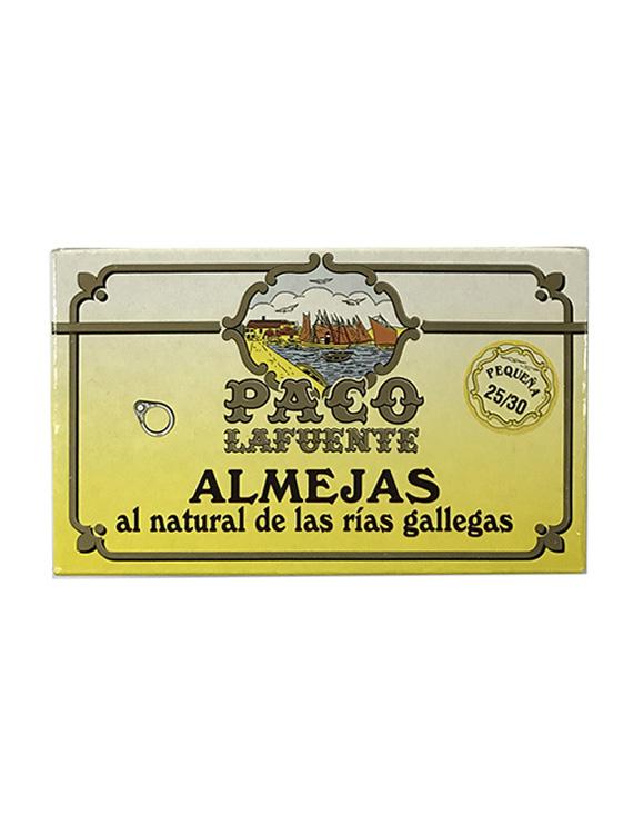 ALMEJAS AL NATURAL PACO LAFUENTE 25/30 PEQUEÑA