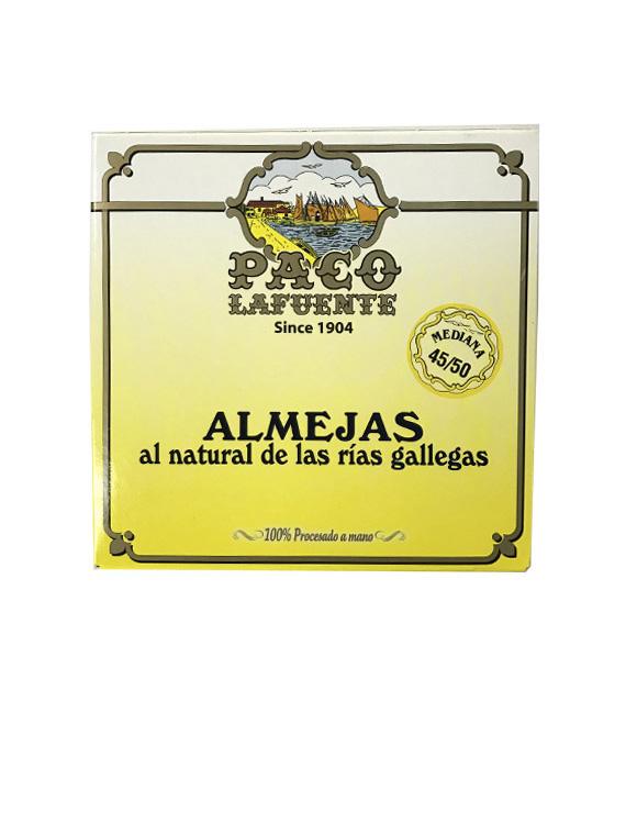 ALMEJAS AL NATURAL PACO LAFUENTE 45/50 MEDIANA