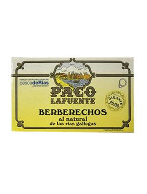 BERBERECHOS AL NATURAL PACO LAFUENTE 25/30 GIGANTE