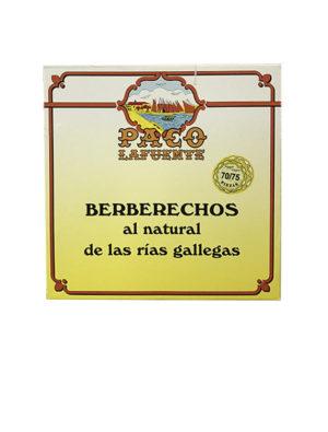 BERBERECHOS AL NATURAL PACO LAFUENTE 70/75 GRANDE