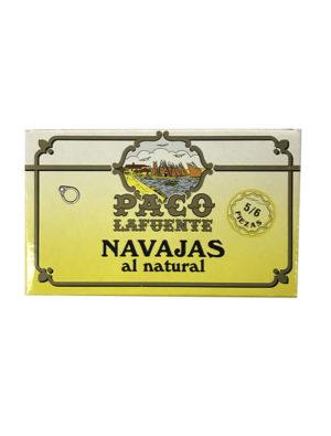 NAVAJAS AL NATURAL PACO LAFUENTE 5/6