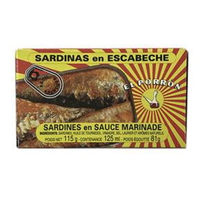 SARDINAS EN ESCABECHE EL PORRON