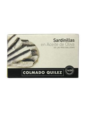 SARDINILLAS EN ACEITE DE OLIVA QUILEZ 16/20
