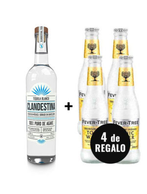 PACK-TEQUILA-BLANCO-CLANDESTINA-4-FEVER-TREE-TONIC-WATER-GRATIS