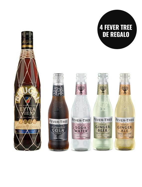RON BRUGAL EXTRA VIEJO + PACK FEVER TREE