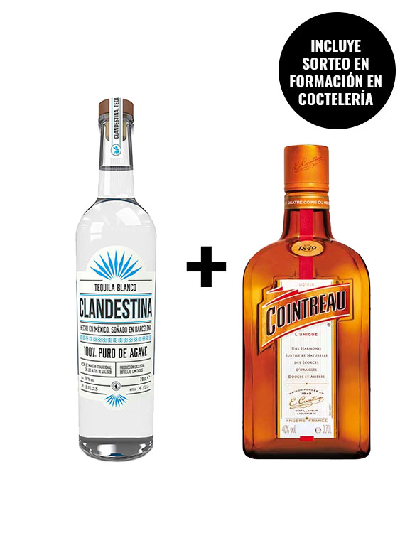 TEQUILA-CLANDESTINA-BLANCO-PACK-BOTELLA-COINTREAU
